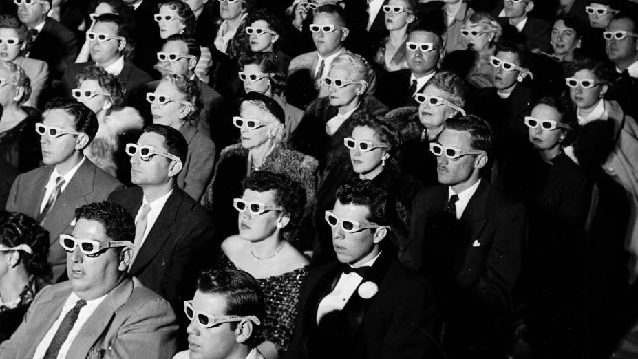 Audience with 3D Glasses