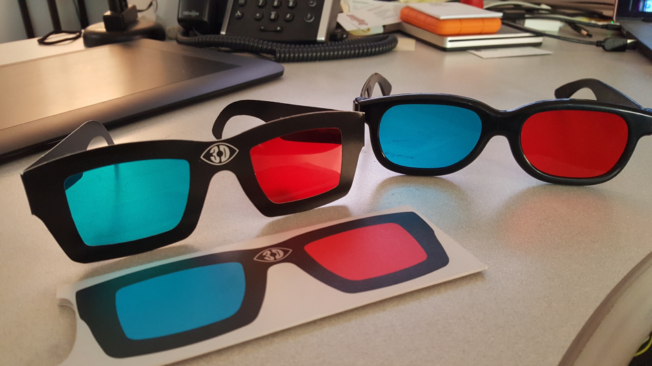 3D Anaglyphic Glasses