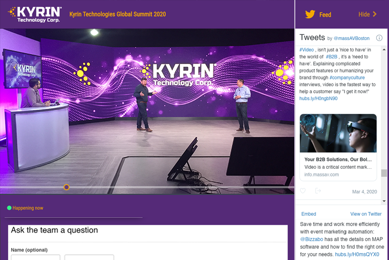 Kyrin Example_Live Virtual Event_Branded Webpage